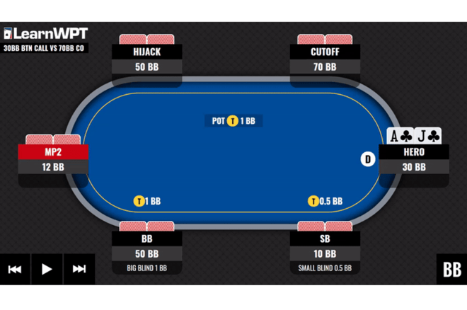 Improve your battles with the chip leader thanks to the WPT GTO Trainer Hand of the Week