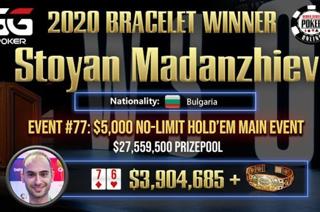 Stoyan Madanzhiev wint 2020 GGPoker WSOP Online Main Event ($3.904.686), Scholten 36e