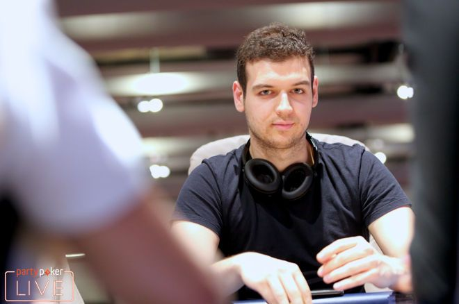 Michael Addamo leads the World Poker Tour World Online Championships $100,000 super high roller on partypokert