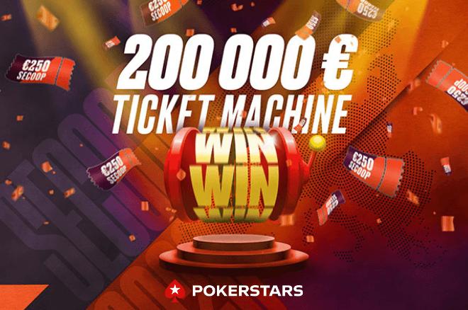 Máquina de Bilhetes: €200.000 em bilhetes garantidos para o SCOOP 2020 da PokerStars.pt