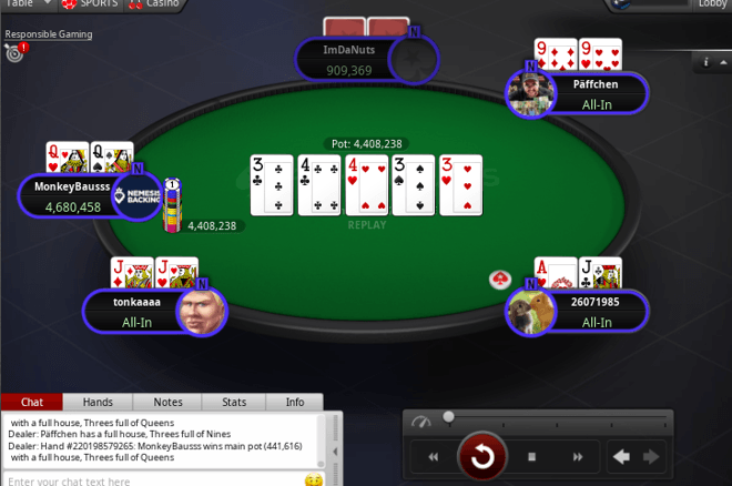 EPT Online Biggest Hands