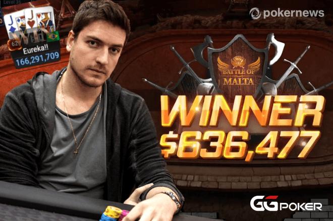 Rodrigo Selouan é o grande campeão do Battle of Malta Main Event da GGPoker