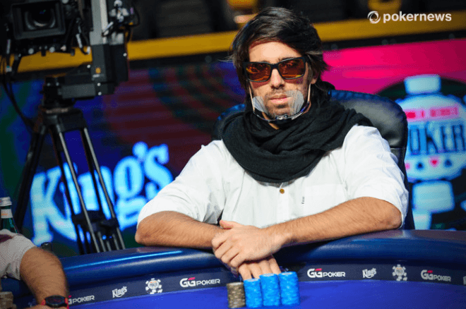 Manuel Ruivo na mesa final do WSOP Main Event 2020