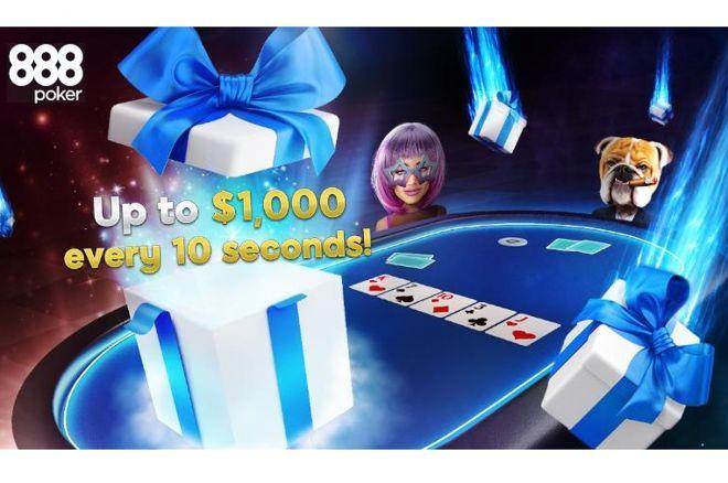 Menangkan Tiket BLAST, Entri Freeroll, dan uang tunai langsung setiap 10 detik dengan Hadiah Drops 888poker di Perangkat Lunak Made to Play