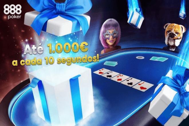 Ganha prémios a cada 10 segundos nas Chuvas de Prémios Turbo da 888poker
