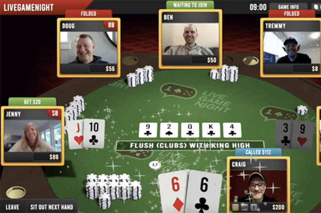 Play with your friends in the latest live stream poker service from LGN Poker