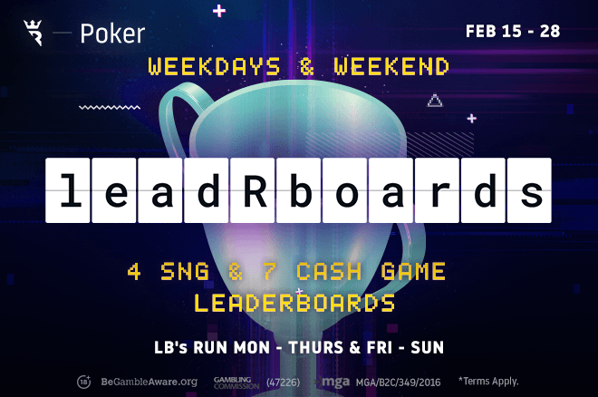 Play in Run It Once Poker Weekend and Weekday leadrboards