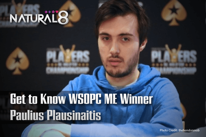 Plausinaitis won $1.2 million in the WSOPC Main Event, find out more about him on PokerNews