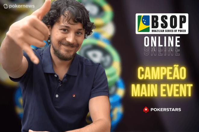 Português Jorge Abreu crava BSOP Online Main Event e fatura US$ 94.916