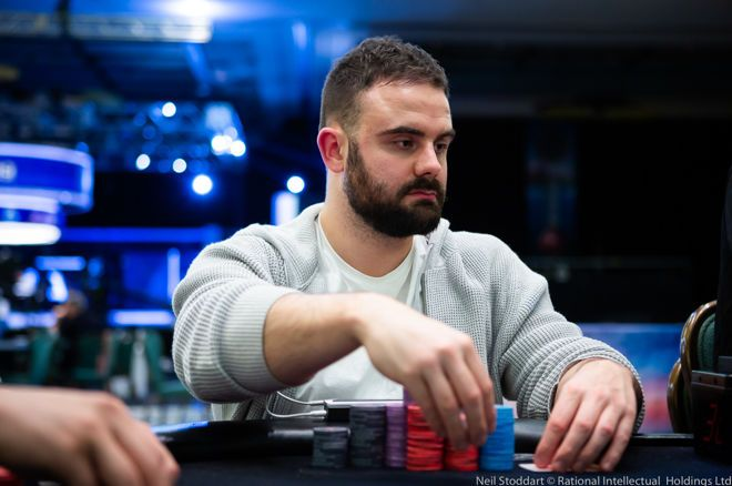 partypoker Powerfest Main Event Day 1B chip leader Lucas Reeves