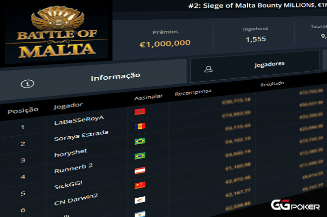 Battle of Malta na GGPoker