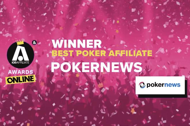 PokerNews Wins iGB Affiliate Award 2021 Best Poker Affiliate