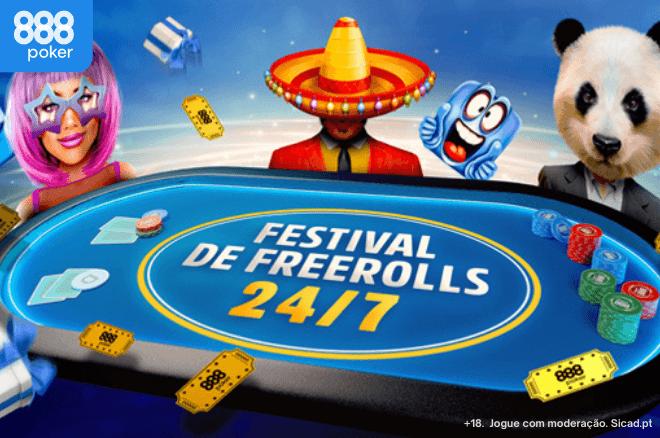 Festival de Freerolls 24/7 na 888poker