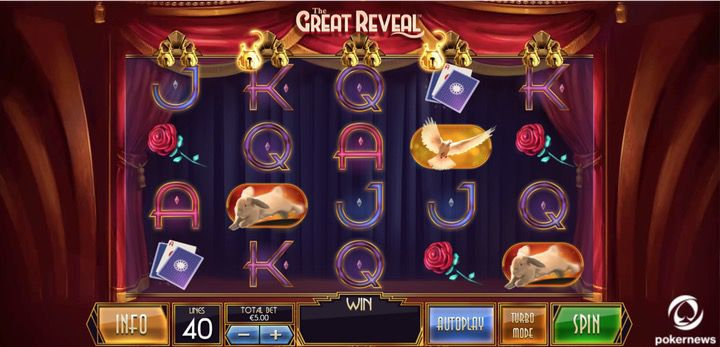 Free to use slot machine falling down transparent screen