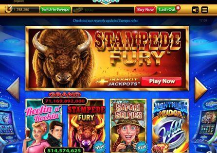 The colourful lobby of Chumba Casino