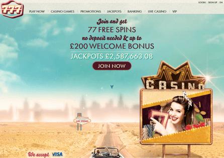 777Casino Homepage