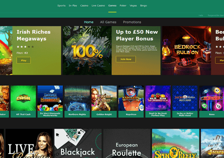 You can pick a game right at the Bet365 Casino homepage