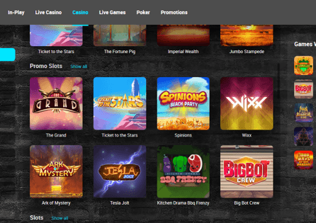 TonyBet casino Games