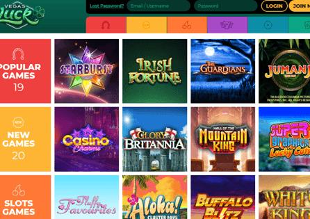 Vegas Luck Casino Games