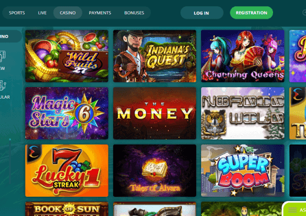22Bet Casino Games Section