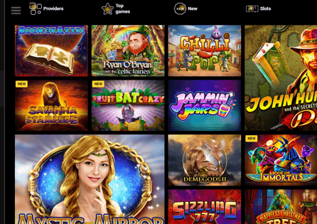 Zet Casino Games Section
