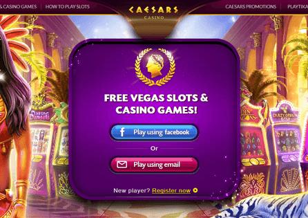 Caesar's Social Casino Register
