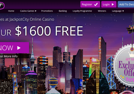 Visit Jackpot City Casino homepage and grab their welcome offer