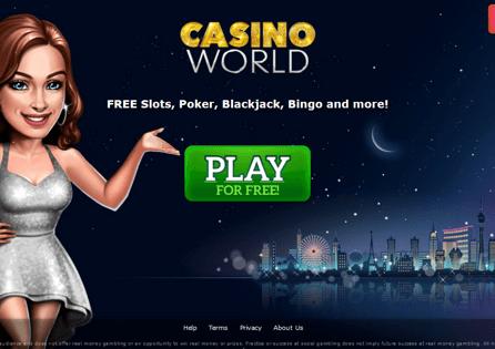 Casino World Homepage