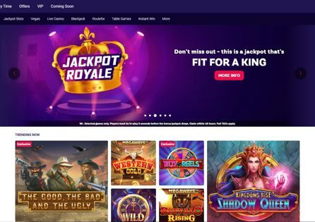 See what's trending at the Party Casino homepage