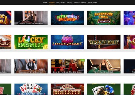 Casino.com game lobby offers plenty of games - including the exclusive ones