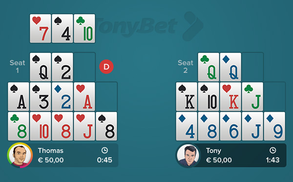 Open Face Chinese Poker Pineapple Rules