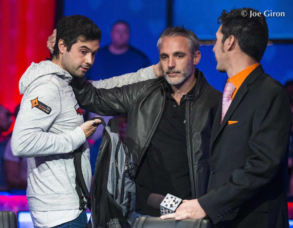 Richard Dubini comforted by Damian Salas
