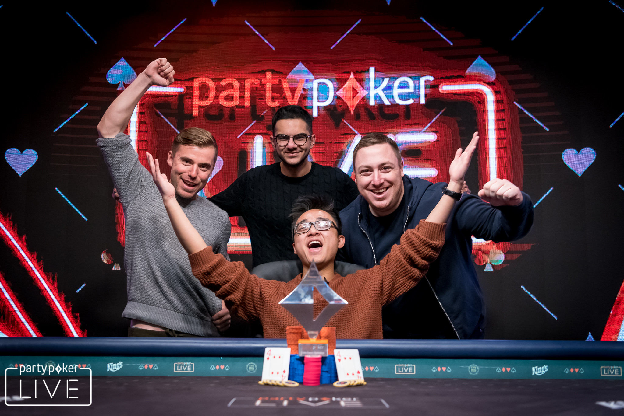 Chi Zhang wins the 2018 partypoker LIVE MILLIONS Germany €50,000 Super High Roll