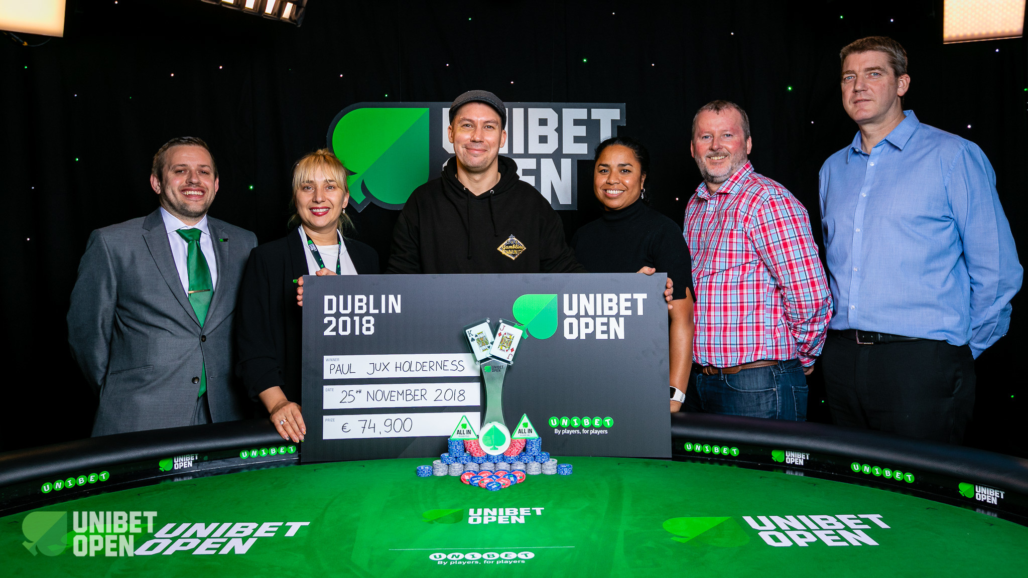 Paul Jux Holderness Wins the 2018 Unibet Open Dublin Main Event