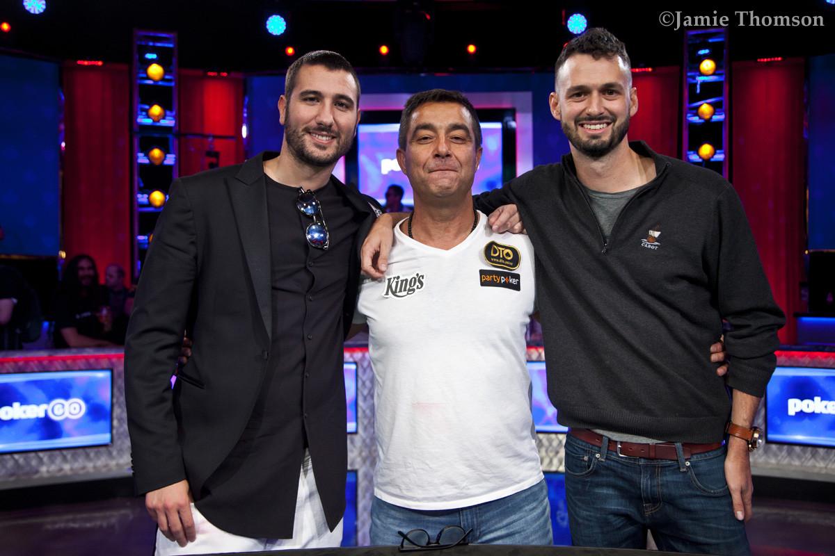 Dario Sammartino, Hossein Ensan, and Alex Livingston in the Thunderdome