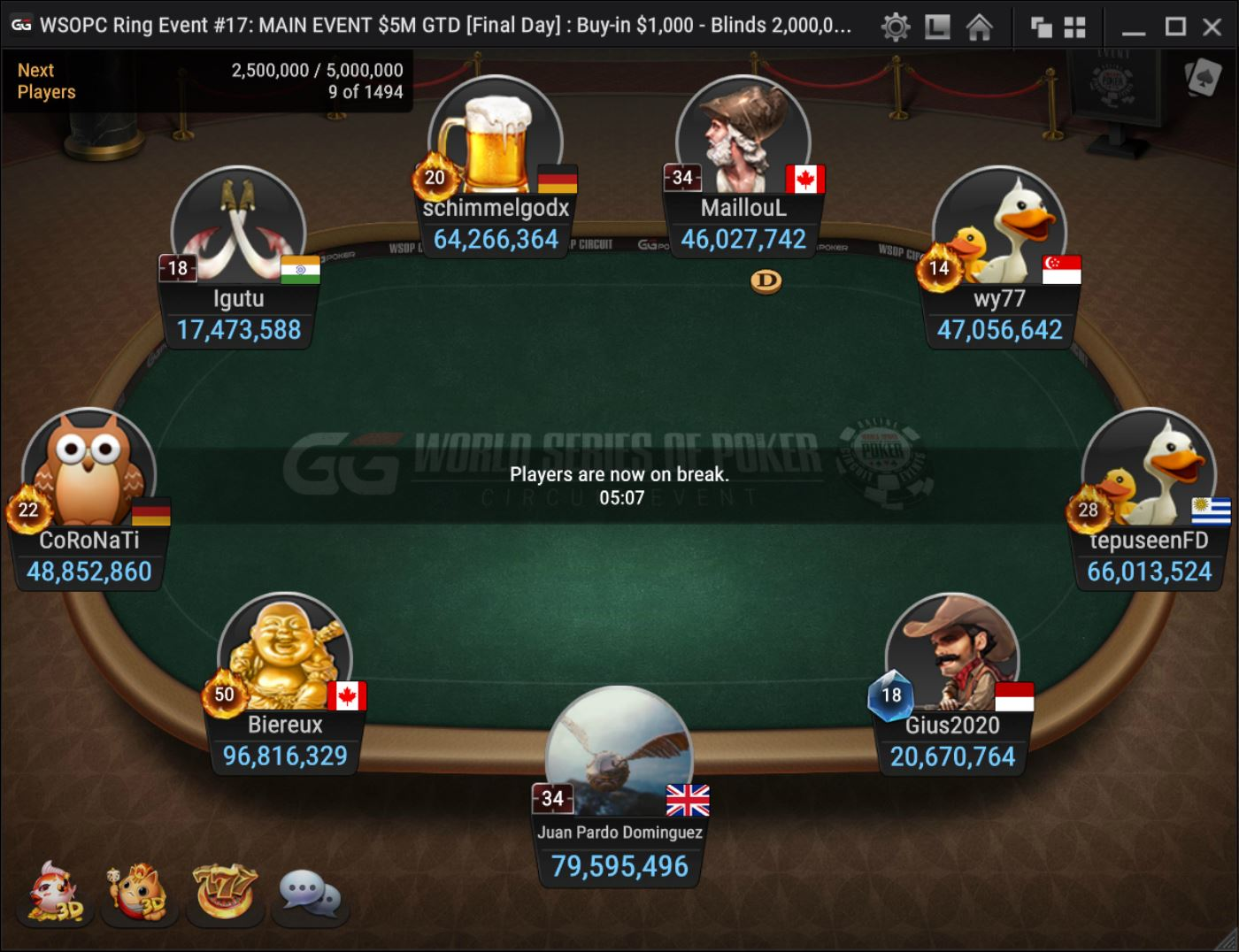 Event 17 Final Table