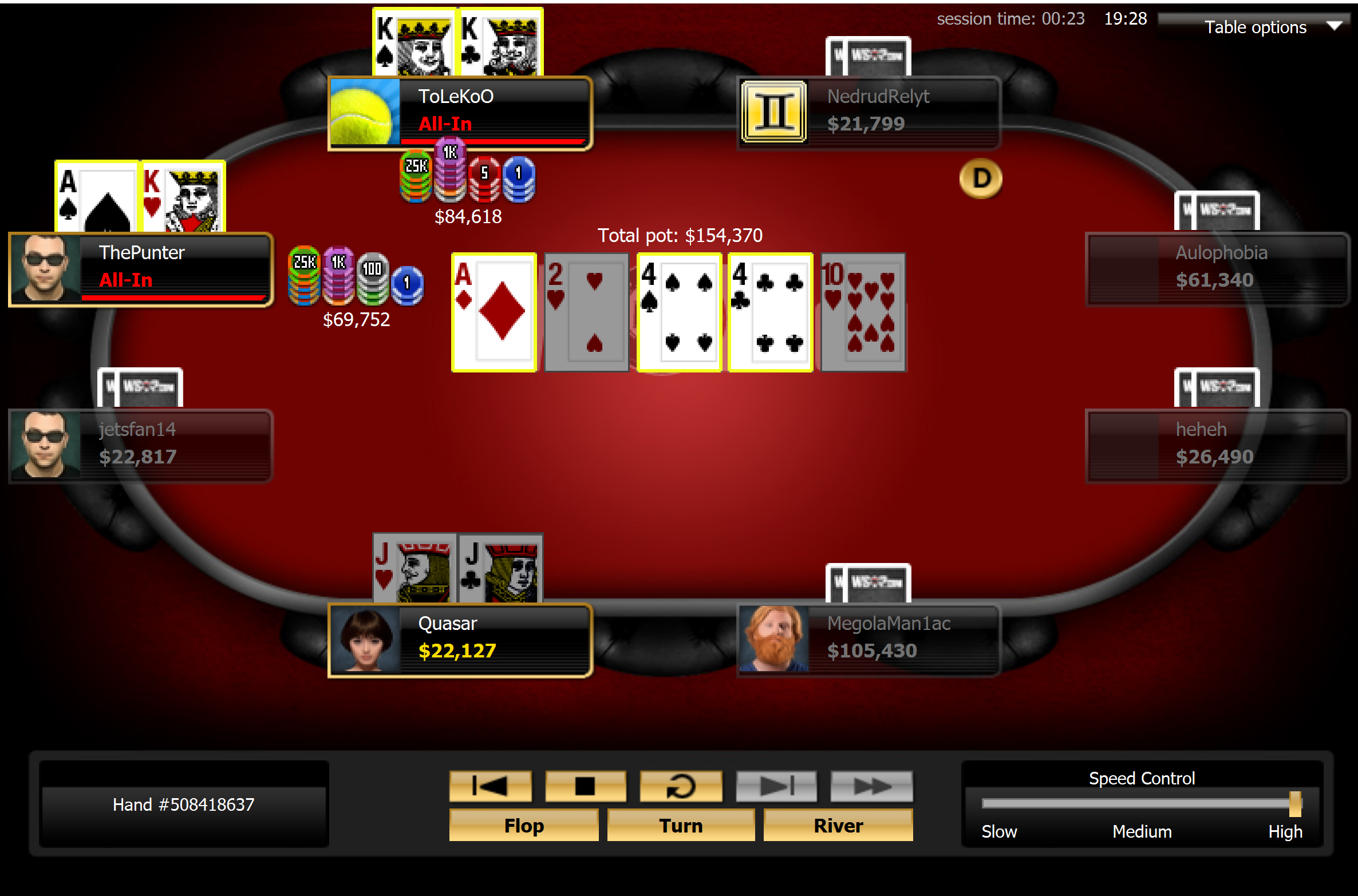 Bronstein Flops Ace for Triple