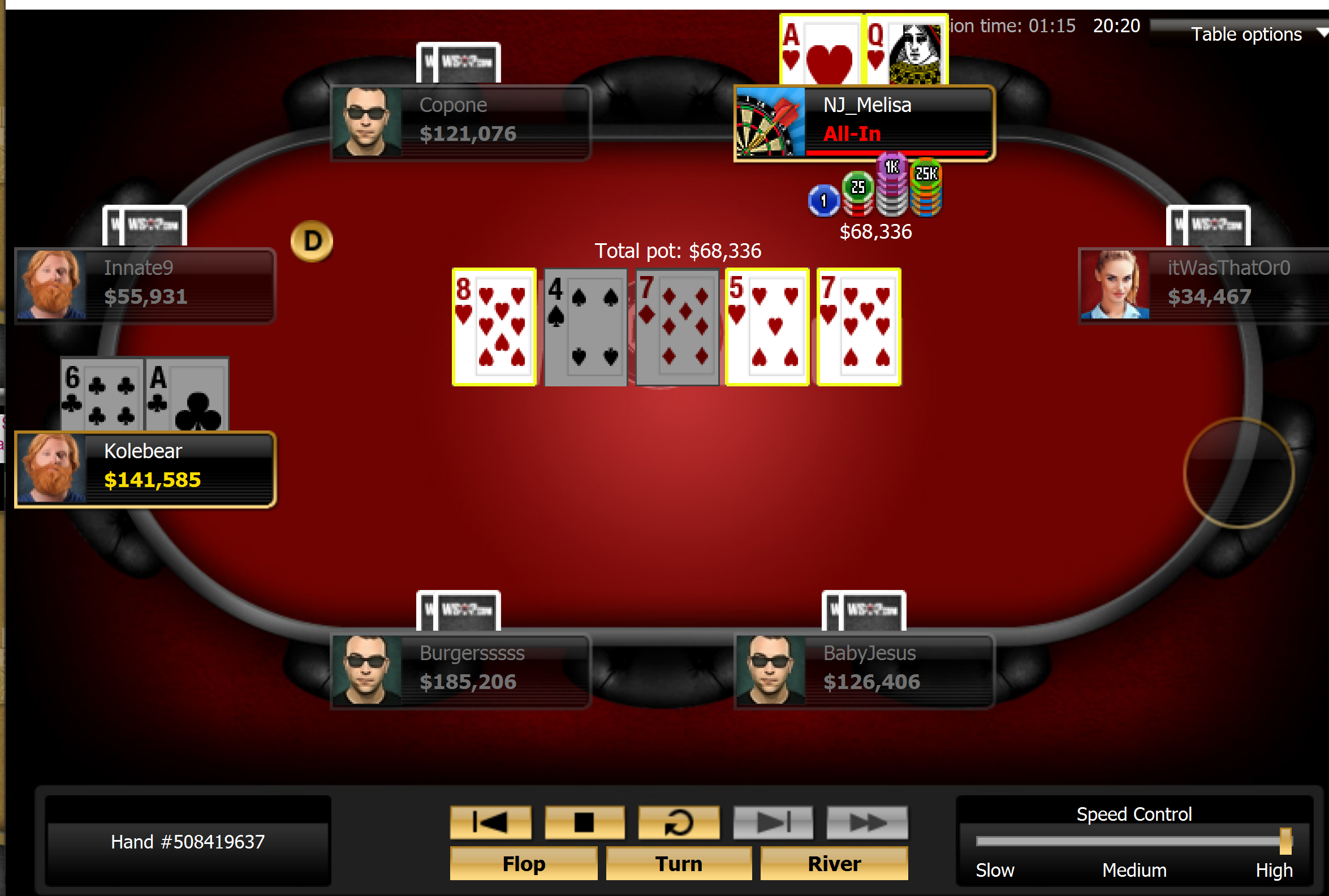 Singh Rivers Flush for Double