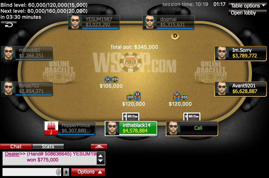 Event #23 Final Table