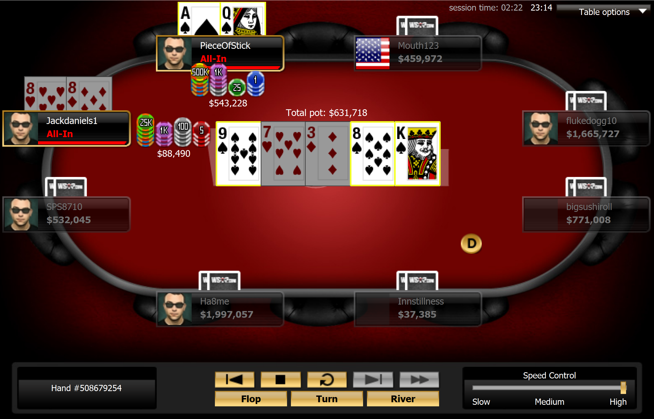 Gandrow Flushes Wong for Double
