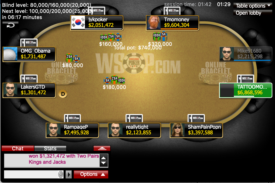 Event 26 Final Table
