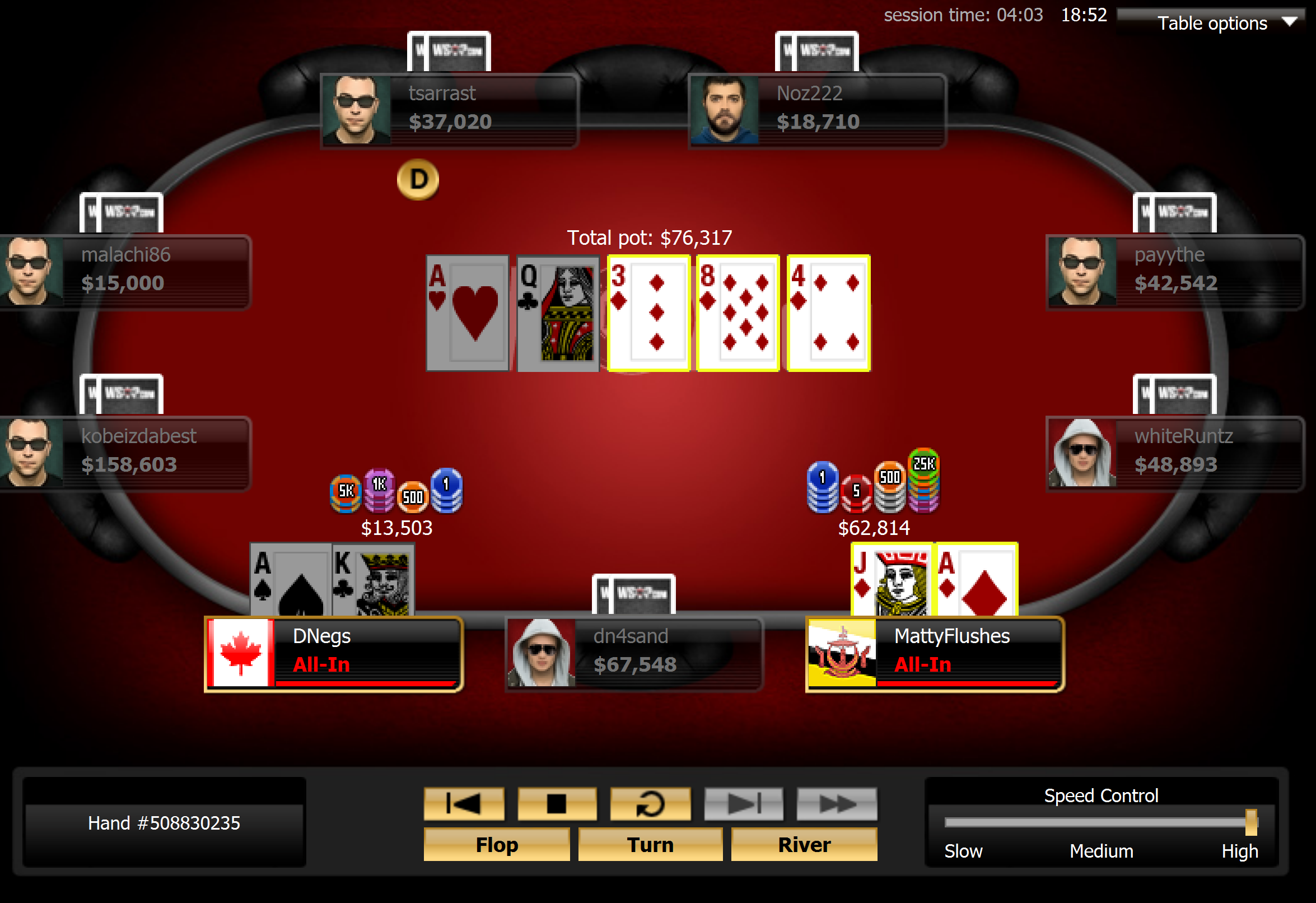 Negreanu Left With Dust After Larkin Hit Running Diamonds for Double
