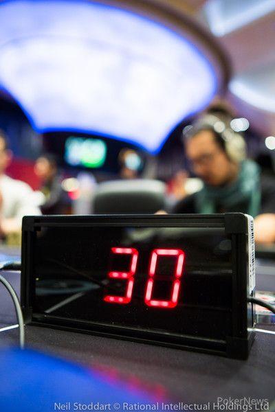 PokerStars Championship Macau shot clock