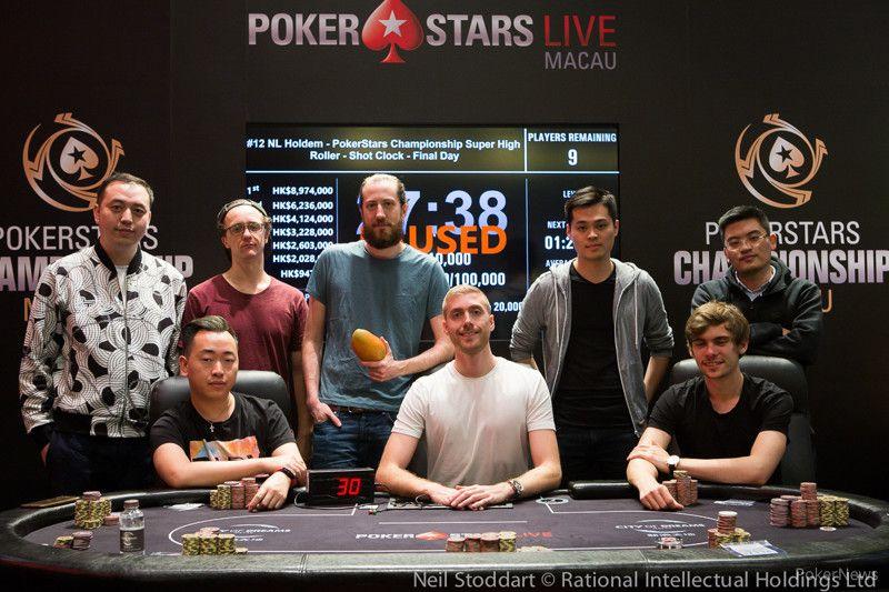 PokerStars Championship Macau Super High Roller final table