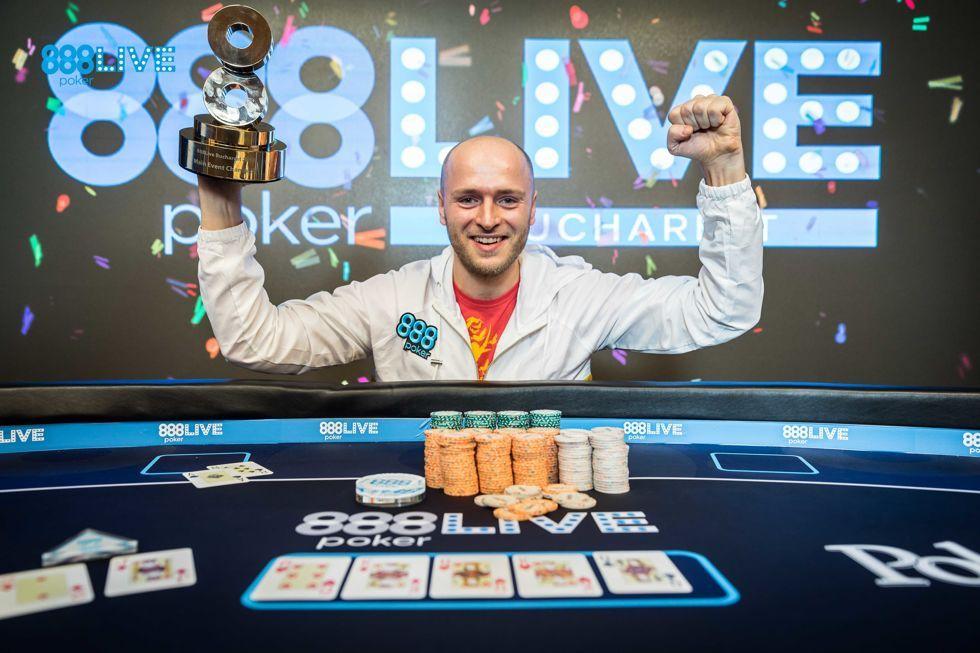 888pokerLIVE Bucharest Main Event champion Andrei Racolta