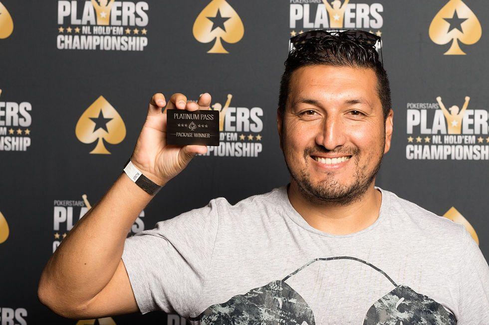 Platinum Pass Winner Miguel Romero
