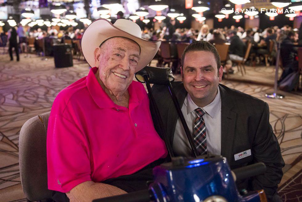 Doyle Brunson and WSOP Tournament Director Jack Effel