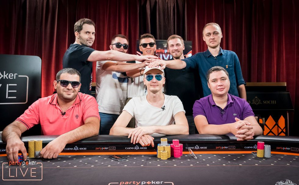 2018 partypoker LIVE MILLIONS Russia Main Event final table