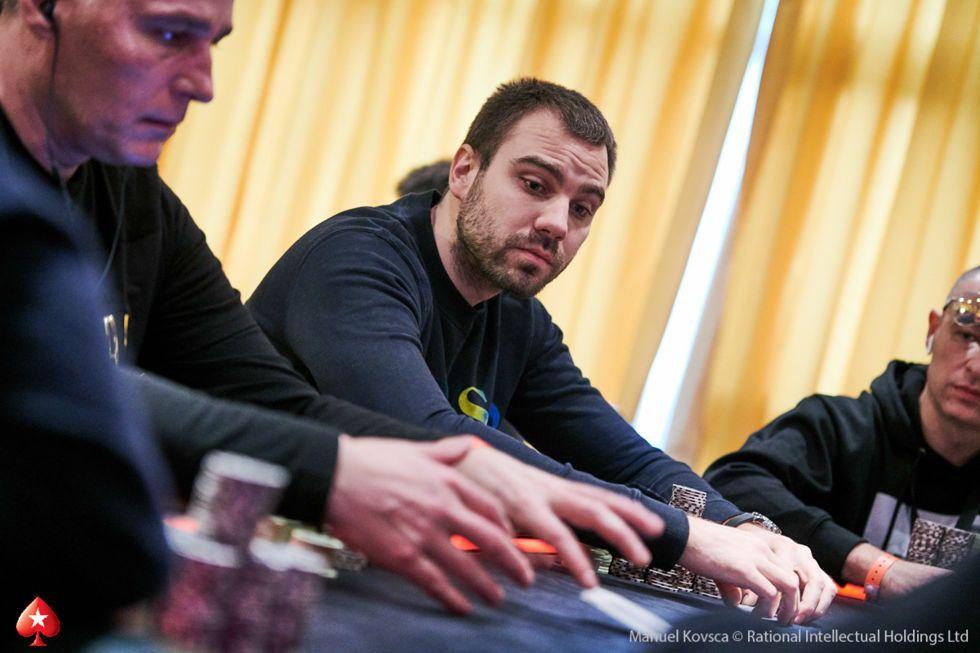 Start of Day Chip Leader Danilo Velasevic