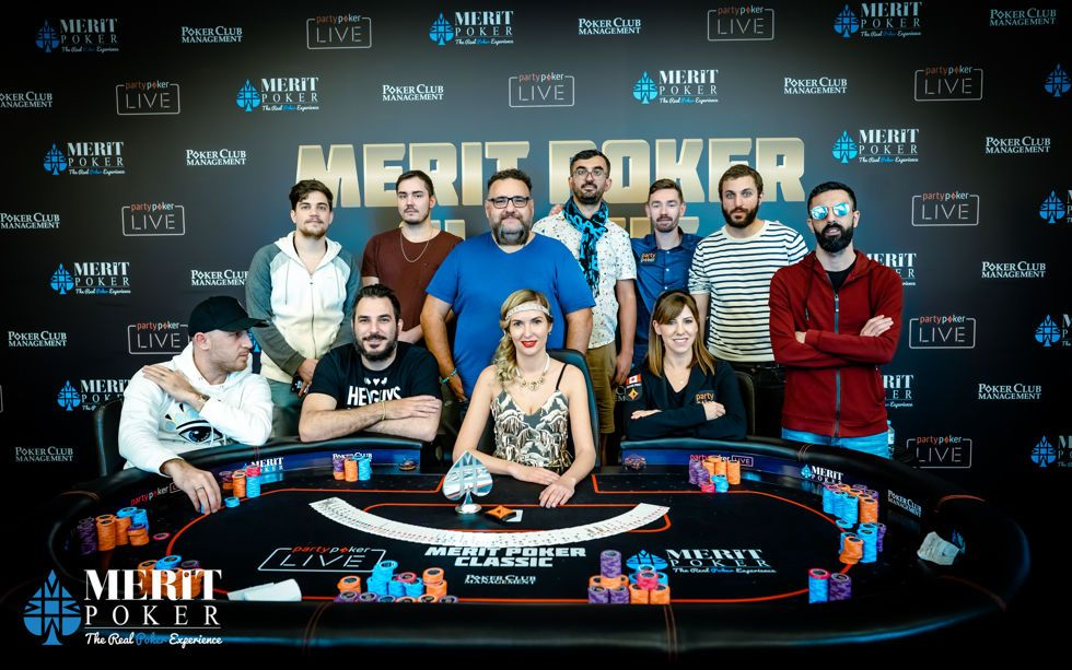 The Merit Poker Classic Main Event Final Table